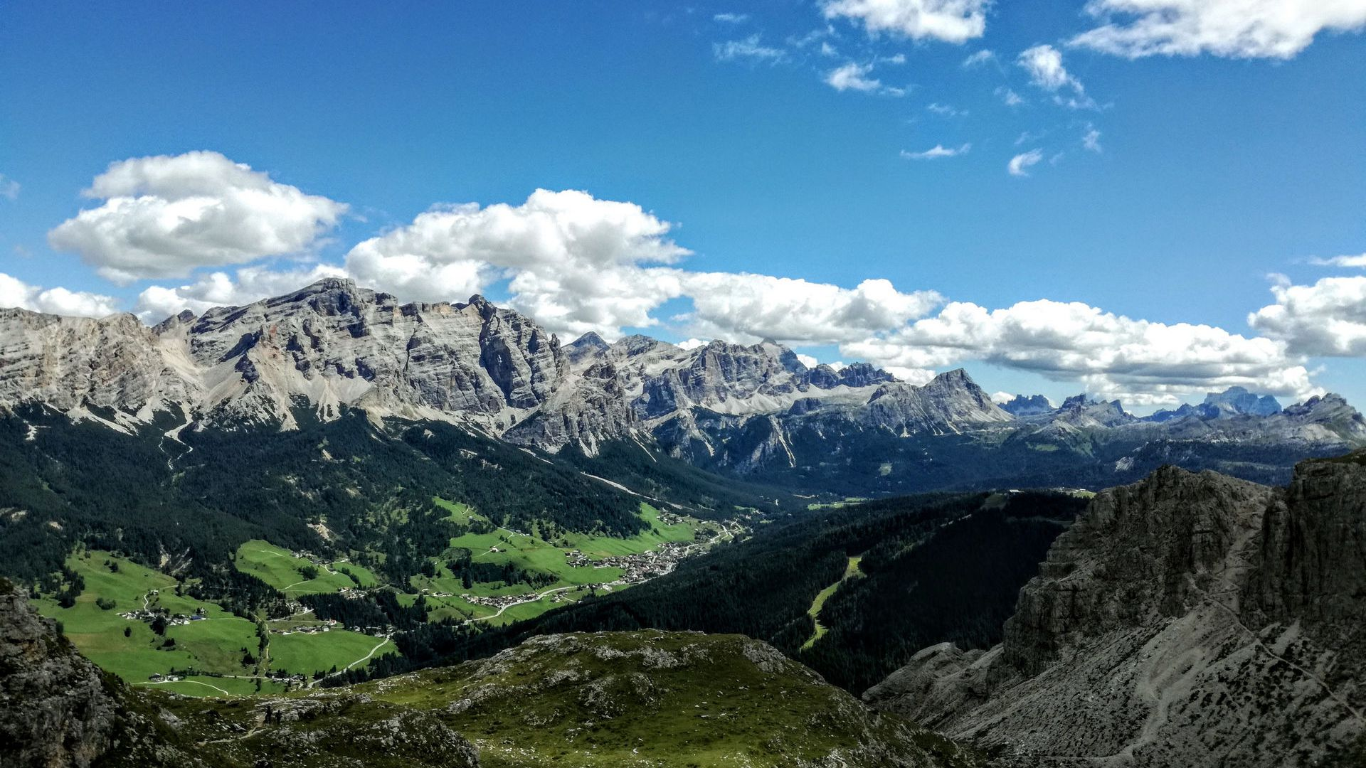 Image:  summer holidays in the Dolomites